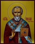 Рукописная икона Николай Чудотворец 9