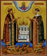 Рукописная икона Петр и Феврония 54 (Размер 21*25 см)