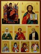 Рукописная икона Избранные святые