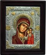 Греческая Казанская икона с рамочкой (Размер 14*16 см)