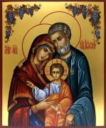 Рукописная икона Святое Семейство 3