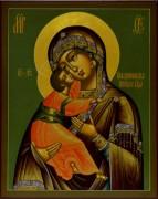 Рукописная Владимирская икона 5 (Размер 19*24 см)
