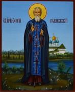 Рукописная икона Сергий Радонежский 9