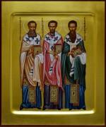 Рукописная икона Три Святителя