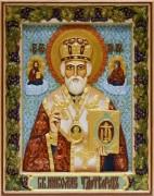 Резная икона Николай Чудотворец 6