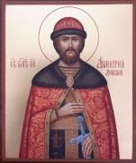 Рукописная икона Димитрий Донской 4