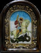Икона из бисера Георгий Победоносец 3
