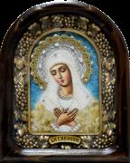 Икона из бисера Умиление с жемчугом 3 (Размер 18*23 см)