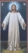 Рукописная икона Спаситель 7