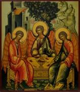 Рукописная икона Святая Троица под старину 6