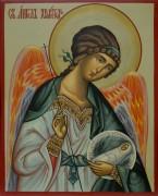 Рукописная икона Ангел Хранитель с Душой 22 (Размер 13*16 см)