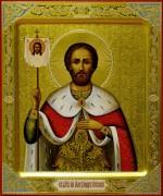 Рукописная икона Александр Невский 9