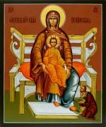 Рукописная Испанская икона Божией Матери 2