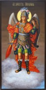 Рукописная икона Архангел Михаил 8