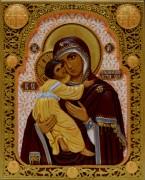 Резная Владимирская икона Божией Матери 3