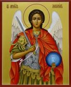 Рукописная икона Архангел Михаил 9