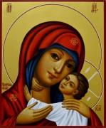 Рукописная икона Изборская