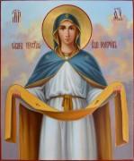 Рукописная икона Покров Пресвятой Богородицы масло