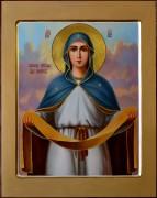 Рукописная икона Покров масло 2