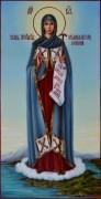 Рукописная икона Игуменья горы Афонской масло