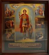 Рукописная икона Уар с житийными клеймами масло