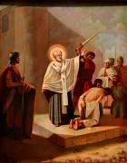 Икона Николай Чудотворец спасает от смерти невинно осужденных