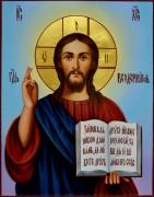 Рукописная икона Спас Вседержитель масло 20