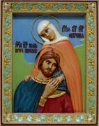 Резная икона Петр и Феврония 20