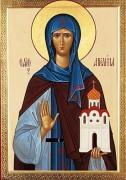 Рукописная икона Святая Ангелина Сербская