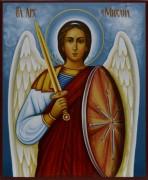 Рукописная икона Архангел Михаил 4