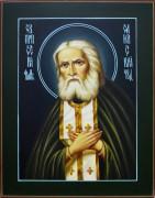 Рукописная икона Серафим Саровский масляная живопись