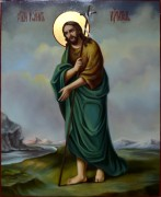 Рукописная икона Иоанн Креститель масло 6