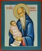 Рукописная икона Стилиан под старину (Размер 17*21 см)