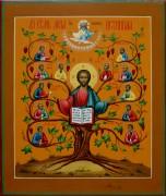 Рукописная икона Лоза Истинная под старину 2 (Размер 27*31 см)