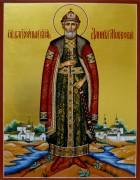 Рукописная икона Даниил Московский 3