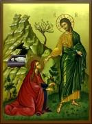 Рукописная икона Встреча Марии Магдалины и Иисуса Христа