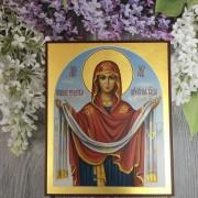 Рукописная икона Покров Богородицы 7