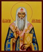 Рукописная икона Алексий Митрополит Московский 4
