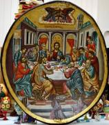 Греческая рукописная икона Тайная Вечеря