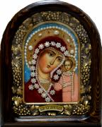 Икона из бисера Казанская 3 (Размер 18*23 см)