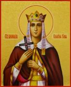 Рукописная икона княгиня Ольга с резьбой 10 (Размер 17*21 см)