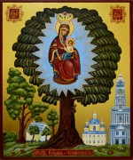 Рукописная икона Елецкая Черниговская