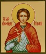Рукописная икона Александр Римский