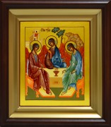 Рукописная икона Святая Троица (Рублев) 8 (Размер 17*21 см)