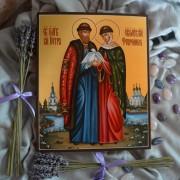 Рукописная икона Петр и Феврония Муромские 42