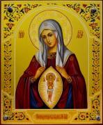 Рукописная икона Помощница в родах 2