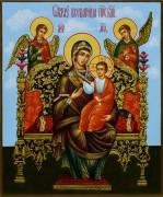 Рукописная икона Всецарица 7 (Размер 17*21 см)
