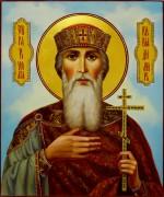 Рукописная икона Владимир равноапостольный масло (Размер 21*25 см)