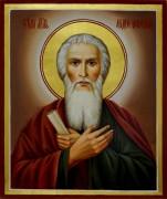 Рукописная икона Андрей Первозванный масло 2
