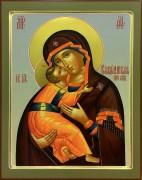 Рукописная икона Владимирская 9